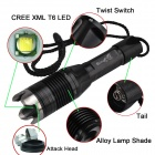 SingFire SF-609 800lm White 4-Mode Diving Flashlight w/ Cree XM-L T6 - Black + Silver (2 x 18650)
