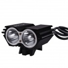 SingFire SF-607 2000lm Cool White 4-Mode Bicycle Flashlight w/ 2 x Cree XM-L T6 - Black (4 x 18650)