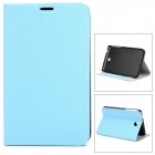 Fashionable Flip-open Protective PU Leather Case w/ Holder + Card Slot for Samsung P3200 - Blue