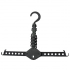 J1021 Multi-Functional 360 Degree Rotational Folding Clothed Hanger - Black