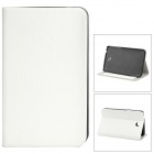 Fashionable Flip-open PU Leather Case w/ Stand + Card Slot for Samsung P3200 - White