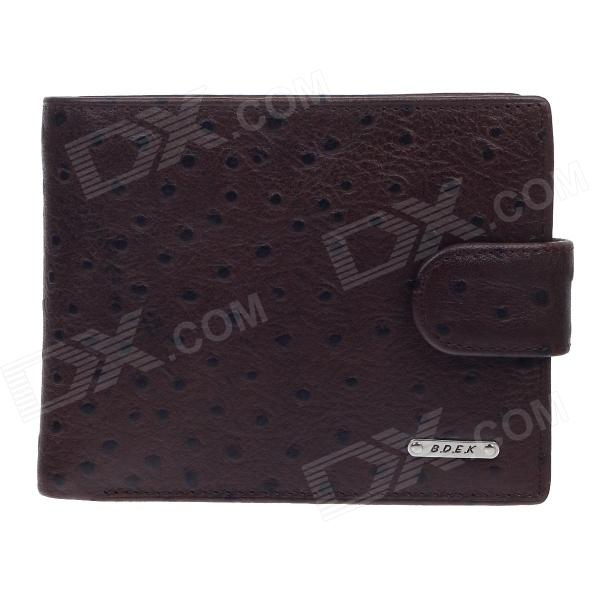 BEIDIERKE B016-206 High-grade Head Layer Cowhide Wallet - Brown