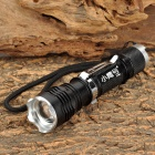 XiaoYingHao ZY-853 700lm 5-Mode White Zooming Flashlight w/ Cree XM-L T6 - Black + Silver (1x18650)