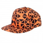 TIANFENG Fashionable Geometry Baseball Cap Hat - Black + Orange