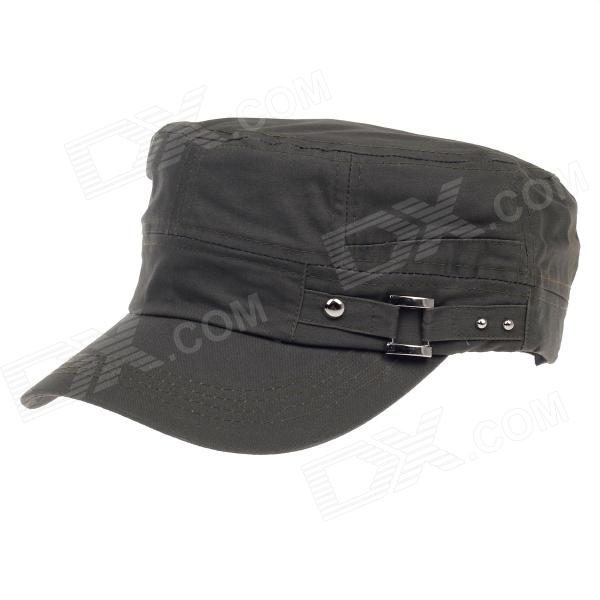 Unisex Outdoor Leisure Flat-Top Cap - Blackish Green outfly outdoor winter flat top earflaps hat cap for men army green