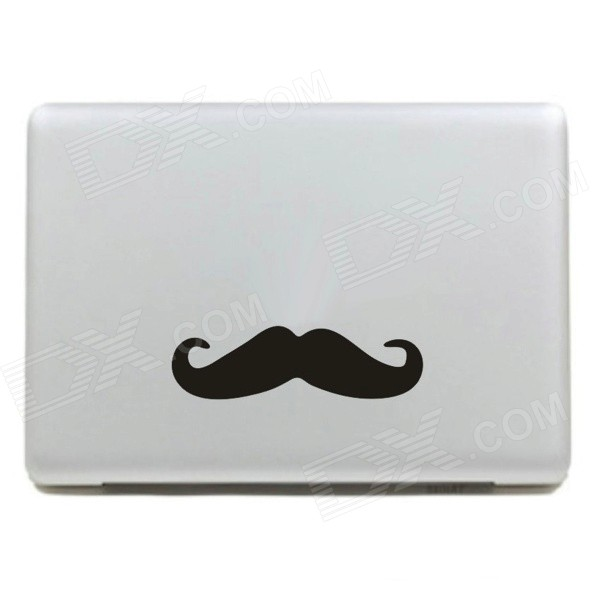 Stylish Mustach Pattern DIY Sticker for Mac Book - Black + White ultimate sticker book dangerous dinosaurs