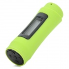 "T-11 0.9"" OLED Swimming Diving Waterproof MP3 Player w/ FM Radio + Earphone - Light Green  (8GB)"