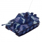 1:72 2.5-Channel Radio Control Battle Tank Model Toy - Greyish White + Deep Blue + Purple (49MHz)