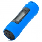 "T-08 0.9"" OLED Swimming Diving Waterproof MP3 Player w/ FM Radio + Earphone - Black + Blue (8GB)"