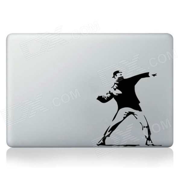 Stylish Dancing Man Pattern DIY Sticker for Mac Book - Black + White ultimate sticker book dangerous dinosaurs