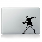 Stylish Dancing Man Pattern DIY Sticker for Mac Book - Black + White