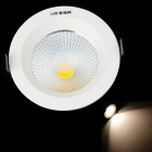 LRISODUN COB-H110 7W 665lm 4100K LED Warm White Light Ceiling Lamp - White + Black (AC 85~245V)