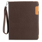 Litchi Pattern360' Rotating Protective PU Leather Smart Case w/ Stand for Ipad 2 / 3 / 4 - Coffee