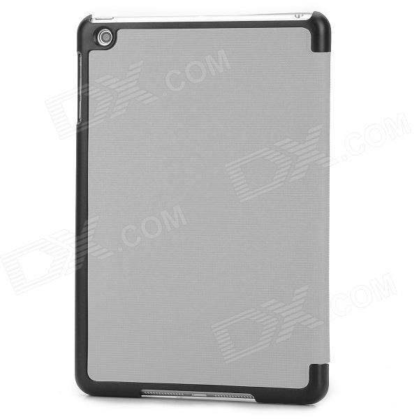 Checked Style Transformable Protective PU Leather Case for Ipad MINI - Grey