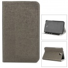 Fashionable Flip-open Protective PU Leather Case w/ Holder + Card Slot for Samsung P3200