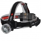 SingFire SF-700 CREE XML T6 800lm 3-Mode Cool White Headlights - Black + Silver (2 x 18650)