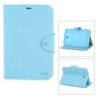 Stylish Flip-open Protective Fiber Leather Case w/ Stand for Samsung N5100 - Blue