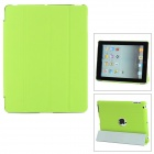 Stylish Super Thin Flip-open Protective PU Leather Case w/ Stand for iPad 3 / 4 - Green