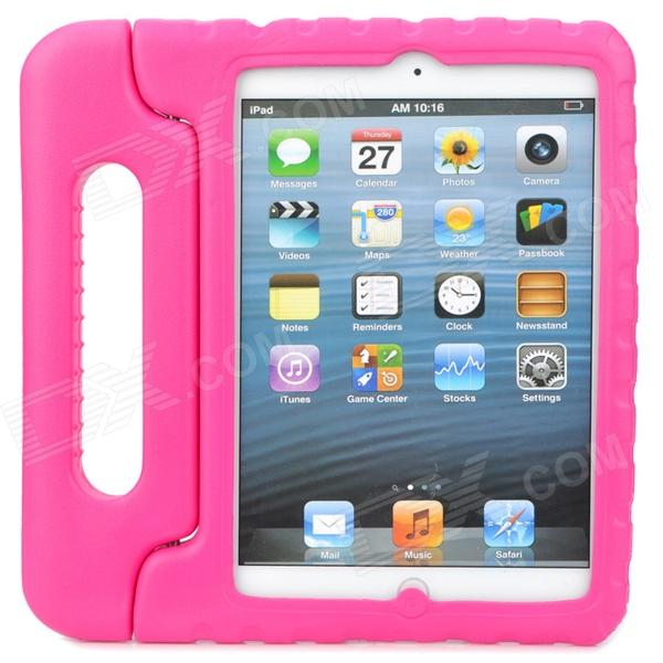 Thick Shockproof Plastic Back Case w/ 180 Degree Rotatable Handle / Holder for Ipad MINI - Rosy universal 360 degree rotatable car air vent holder for cell phone black