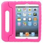 Thick Shockproof Plastic Back Case w/ 180 Degree Rotatable Handle / Holder for Ipad MINI - Rosy