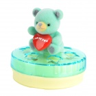 Cute Bear Adornment Lemon Scented Air Freshener Car Perfume Balm - Blue + Yellow
