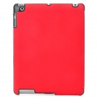 Stylish Grid Pattern Flip-open PU Leather Smart Case w/ Holder for Ipad 3 / 4 - Red + Black