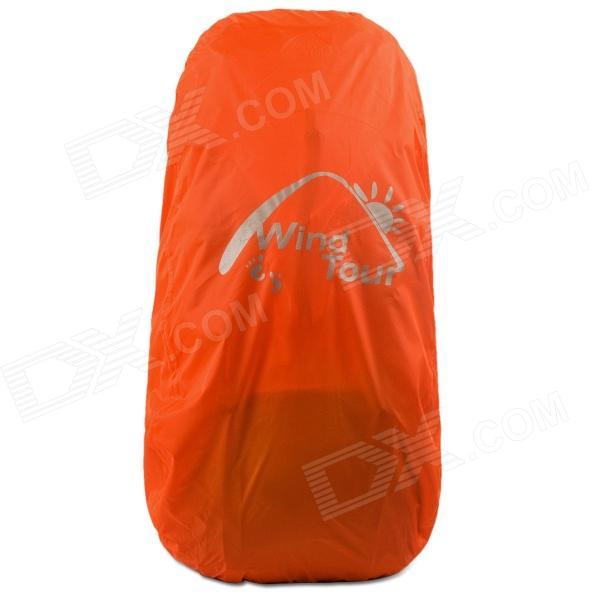 Wind Tour Outdoor Portable Folding Waterproof Nylon Hood for Backpack - Orange (40~50L)