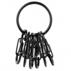 "KRGS-01-R3 Novel ""8"" Shaped Stainless Steel Key Ring - Schwarz"