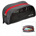 NatureHike Ultra Lightweight Nylon Travel Toiletry Bag - Gray + Black (S)