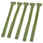 KX-38 Nylon Velcro Cable Ties - Green (5 PCS)