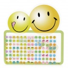 90041 Cute Cartoon Expression Face Plastic Sticker - Multicolored (112 PCS)