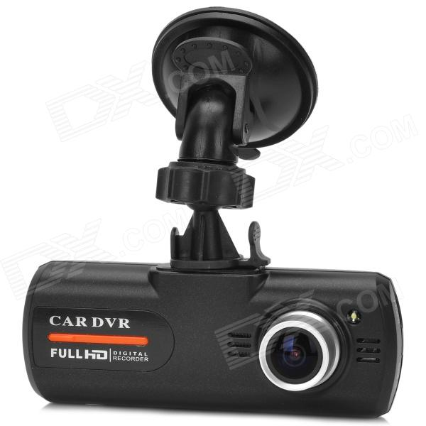 LS650W 2.7 TFT CMOS Wide Angle WDR 1080P Car DVR w/ G-sensor / Night Vision / AV-Out / TF - Black g1wh 2 7 tft 3 0mp cmos full hd 1080p 140 degree wide angle car dvr w g sensor tf black