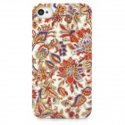Elegant Flowers Style Protective Plastic Back Case for Iphone 4 / 4S - Multicolor