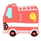 10050047 Cute Cartoon Fire Truck Style Fridge Magnet Sticker - Red + White