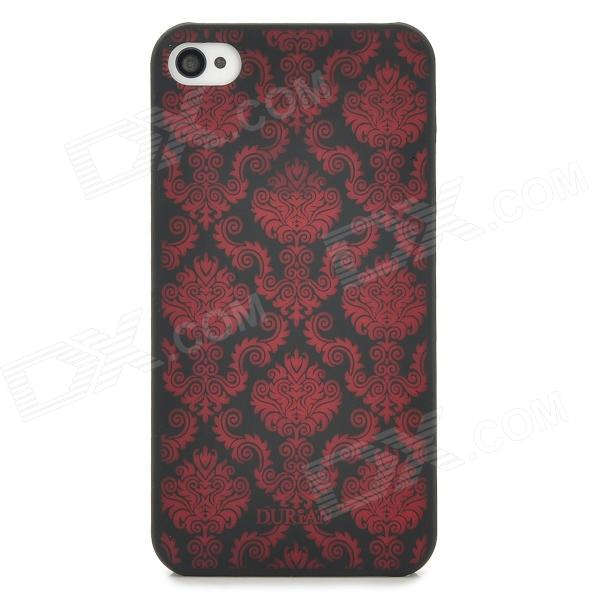 DURIAN Classic Style Protective PC Back Case for Iphone 4 / 4S - Red + Black 31 век kw08597