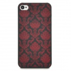 DURIAN Classic Style Protective PC Back Case for Iphone 4 / 4S - Red + Black