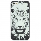 Glow-in-the-Dark Relief Tiger Style Protective Plastic Back Case for Iphone 5 - Black