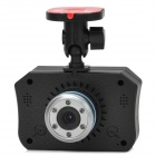 "2"" TFT CMOS Wide Angle 3.0 MP + 1.3 MP Dual-Camera Car DVR w/ AV-Out / TF - Black"