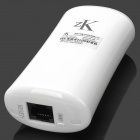 ZK ZK-W8 3G 150Mbps Wi-Fi Wireless Router w/ 4000mAh Mobile Power - White