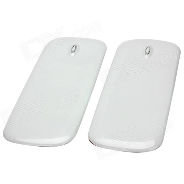 Protective PVC Car Bumper Guard Protector Sticker - White (2 PCS) protective pvc car bumper guard protector sticker white 2 pcs