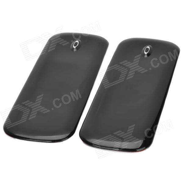 Protective PVC Car Bumper Guard Protector Sticker - Black (2 PCS)