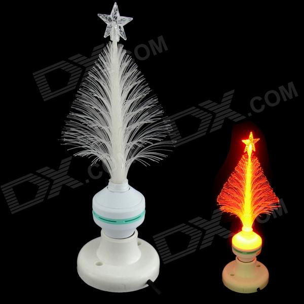 XL10 Fiber Optical Flower E27 3W 30lm 700nm LED Red Light Christmas Tree Lamp - White (85~260V)