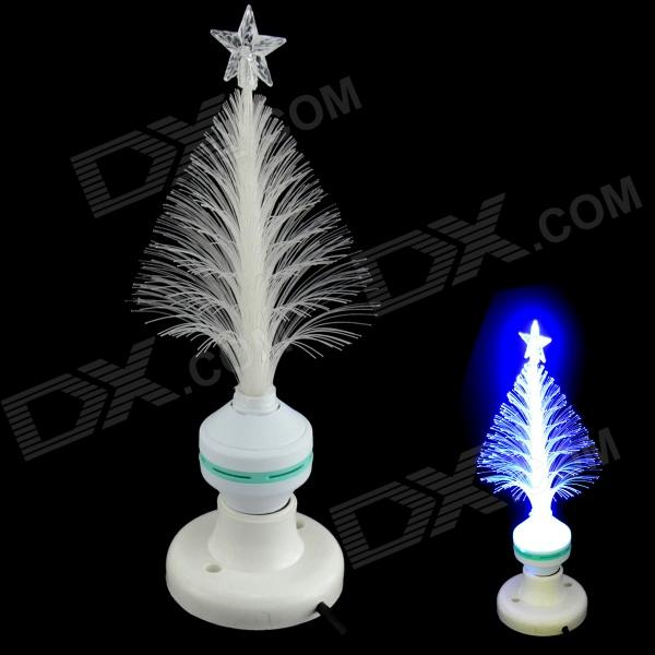 XL10 Fiber Optical Flower E27 3W 30lm 490nm LED Blue Light Christmas Tree Lamp - White (85~260V) подушка декоративная la pastel la pastel mp002xu00xtm