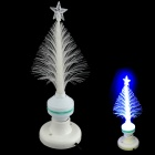 XL10 Fiber Optical Flower E27 3W 30lm 490nm LED Blue Light Christmas Tree Lamp - White (85~260V)
