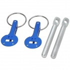 Car Universal Engine Hood Lock - Silver + Blue