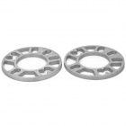 10mm Zinc Alloy Wheel Hub Gasket - Silver (2 PCS)