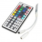 Mini 144W 3 x 2A 4-pin RGB LED Light Strip Controller w/ 44-Key IR Remote Control - Multicolored