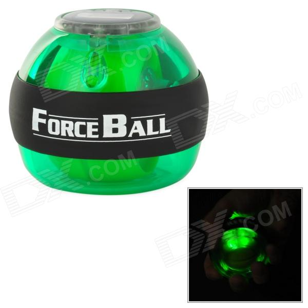 Forceball SPT-AL Plastic Wrist / Fingers / Arm Training Force Ball w/ LED Light - Green + Black adjustable wrist and forearm splint external fixed support wrist brace fixing orthosisfit for men and women
