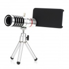 Aluminum Alloy 16X Telephoto Zoom Lens Set for Iphone 5 - Silver