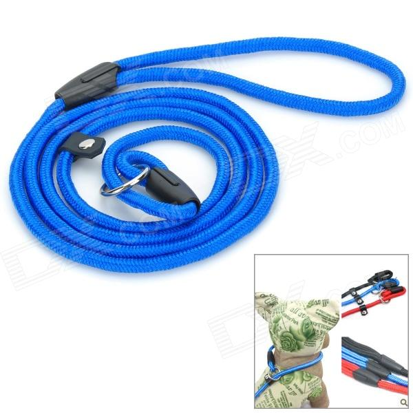 Nylon P Type Free Adjustable Collar Leash Rope for Pet Dog - Blue adjustable nylon strap leash for pet dog black